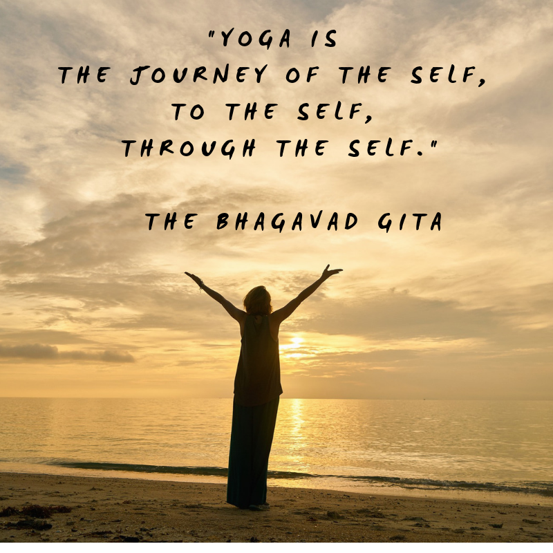 Yoga is the Journey of the self to the self through the self png